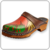 Hand Painted Autumn Glory Clog