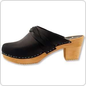 Dala Black Clog By Cape Clogs