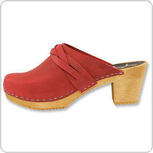 Dala Red Clog By Cape Clogs