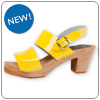 Hedda Yellow Clog