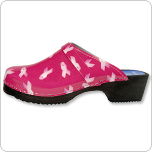 Pink Ribbon Clog by Cape Clogs