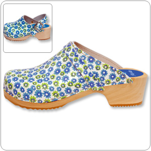 Twin Flower Clog By Cape Clogs