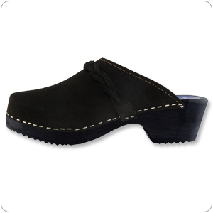 Black Suede Clog By Cape Clog