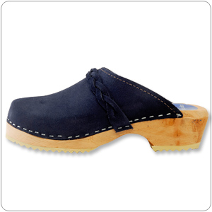 Blue Suede Clog By Cape Clog