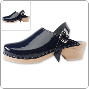 Navy Patent Clog by Cape Clog