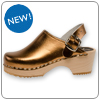 Bronze Metallic Clog By Cape Clog
