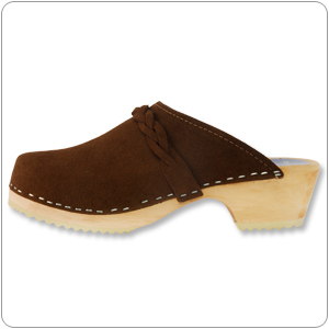 Brown Suede Clog By Cape Clog