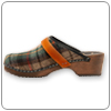 Green Tartan Clog By Cape Clog