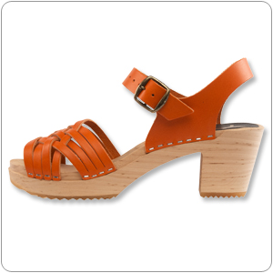 Herringbone Orange Clog By Cape Clog
