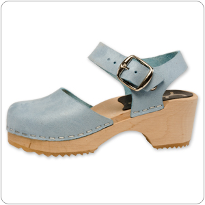 Mary Jane Sky Blue Clog By Cape Clog