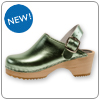 Mint Metallic Clog By Cape Clog
