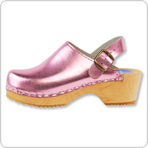 Pink Metallic Clog By Cape Clog