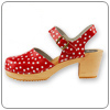 Pippi Red Clog by Cape Clogs