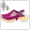 Purple Patent Clog By Cape Clo