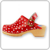 Red Polka Clog By Cape Clog