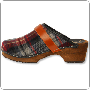 Red Tartan Clog By Cape Clog