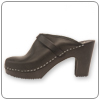 Selma Black Clog By Cape Clog