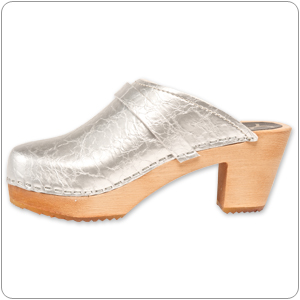 Silver Vegan Clog By Cape Clog
