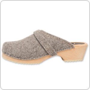 Grey Wooly Clog By Cape Clog