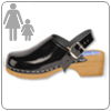 Black Patent Clog By Cape Clog