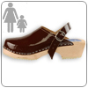Brown Patent Clog by Cape Clog