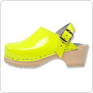 Neon Patent Yellow Clog By Cape Clog